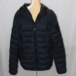 Perry Ellis Nylon Packable Quilted Dark Sapphire Jacket